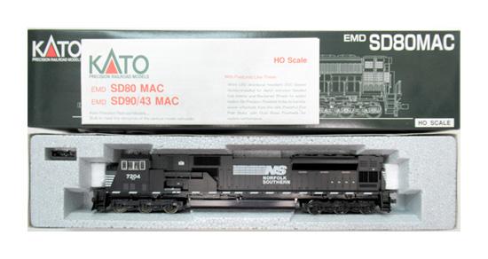 【中古】HOゲージ/KATO 37-6346 EMD SD80MAC NorfolkSouthern #7204【A】