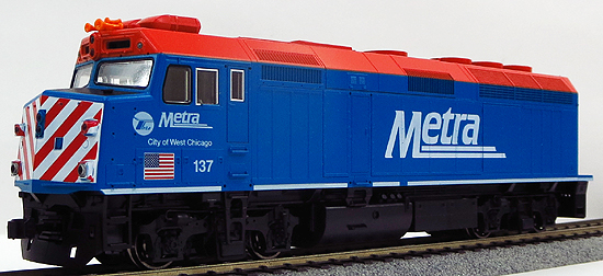 【中古】HOゲージ/KATO 37-6571 EMD F40PH Chicago Metra City of West Chicago #137【A】