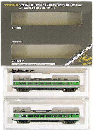 【中古】Nゲージ/TOMIX 92436 JR 189系特急電車(あさま) 2両 増結セット【A'】※外箱少し傷み有
