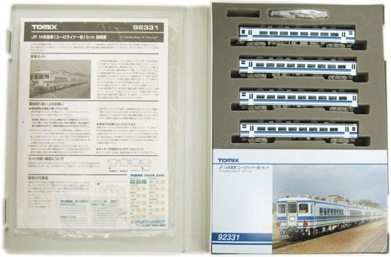 【中古】Nゲージ/TOMIX 92331 JR 14系客車(ユーロライナー色) 4両セット【A】