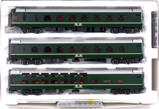 【中古】HOゲージ/TOMIX HO-093 JR 24系25形特急寝台客車 (トワイライトエクスプレス)3両増結セットB 2013年ロット【A'】外箱若干の傷み