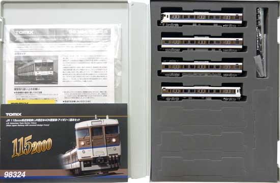 鉄道模型 Nゲージ ☆ SALE 誕生日/お祝い 中古 TOMIX 98324 JR西日本40N更新車 JR 基本 4両セット A アイボリー 40%OFFの激安セール 115-2000系近郊電車
