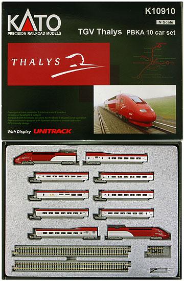 【中古】Nゲージ/KATO K10910 TGV Thalys(TGV タリス) PBKA 10両セット【D】※R1:窓下キズ ※M1(M):ボディ浮き ※外箱若干傷み