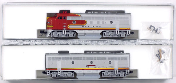【中古】Nゲージ/KATO 106-0405 F7 A+B LOCOMOTIVE SET SantaFe #306/#306B【A】