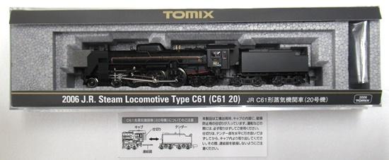 <title>!超美品再入荷品質至上! 鉄道模型 Nゲージ 中古 TOMIX 2006 JR C61形蒸気機関車 20号機 2019年ロット A</title>