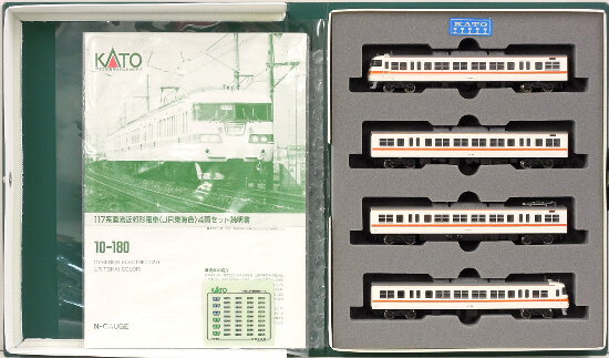 【中古】Nゲージ/KATO 10-180 117系直流近郊形電車(JR東海色)4両セット【A'】外スリーブかなり傷み