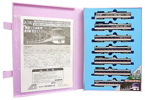 【中古】Nゲージ/マイクロエース A1982 西武鉄道10000系「ニューレッドアロー」 3次型 7両セット【C】外スリーブかなり傷み イラストラベル若干の変色 10508(5号車):客扉にホコリ巻込み