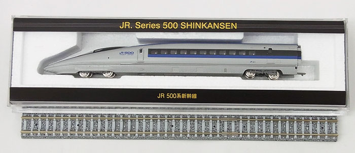 【中古】Nゲージ/TOMIX トレインボックス J-WEST CARD original edition JR500系新幹線(展示用レール付属)【A】※ライトユニット・動力は搭載しておりません