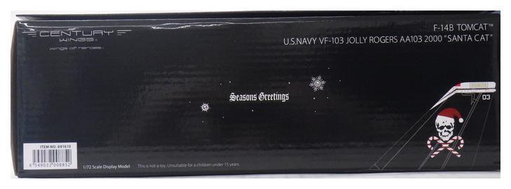 【中古】Century Wings(センチュリーウイングス)1/72 完成品飛行機 F-14B トムキャット VF-103 ジョリーロジャース AA103 2000年