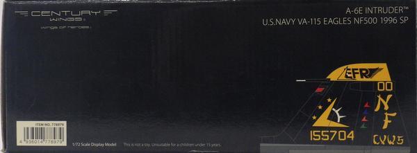 【中古】Century Wings(センチュリーウイングス)1/72 完成品飛行機 A-6E イントルーダー VA-115 イーグルス NF500 1996 厚木基地所属 特別塗装機 item No:778979 【C】開封品,箱傷みあり