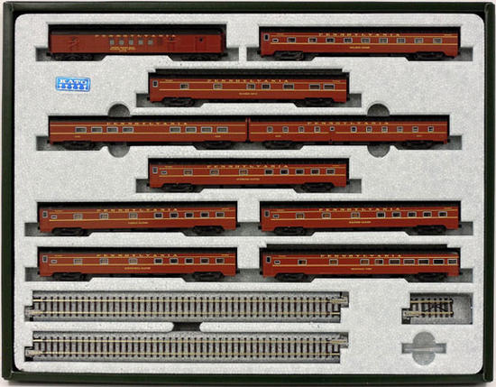【中古】Nゲージ/KATO 106-068 Pennsylvania Railroad Broadway Limited 10両セット【A'】※外箱傷み