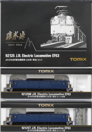 鉄道模型 輸入 Nゲージ 中古 TOMIX 92125 JR EF63形 2両セット 公式ストア 外箱に傷み A' 電気機関車 2次形 ※スリーブ 青色