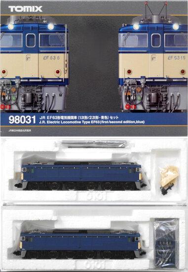 【中古】Nゲージ/TOMIX 98031 JR EF63形電気機関車 (1次形/2次形・青色) 2両セット【A'】スリーブ/外箱軽い傷み