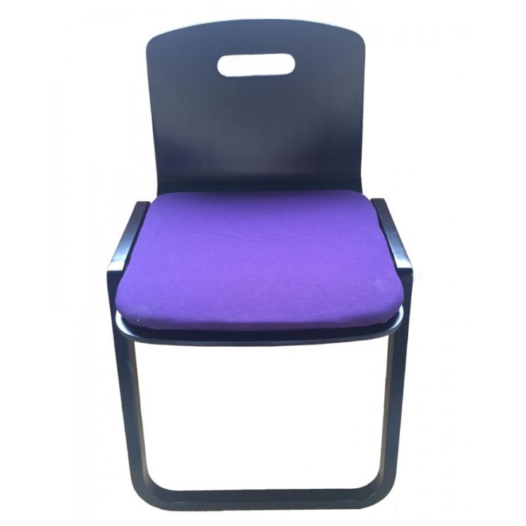 【送料無料】【代引・同梱不可】鈴木木工所 背もたれつき本堂用椅子曲足 黒:02P03Dec40