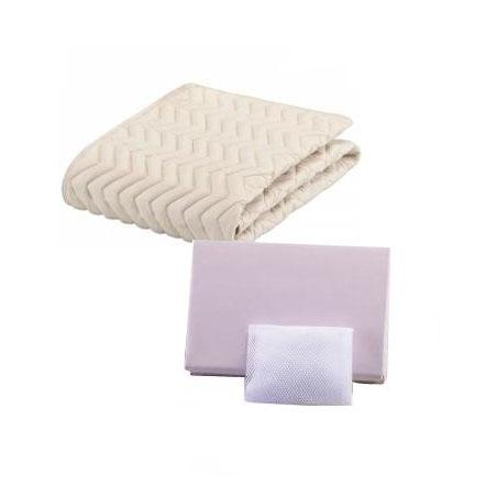 【送料無料】フランスベッド GOOD SLEEP Plus ウォッシャブルバイオ3点セット(ベッドパッド・マットレスカバー) ワイドダブルロング::02P03Dec31