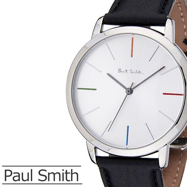 ポールスミス 時計 PaulSmith 腕時計 ポール スミス 腕時計 Paul Smith 時計 ポールスミス腕時計 エムエー MA メンズ レディース シルバー P10051 革 ベルト ブラック 新作 人気 ブランド ビジネス シンプル プレゼント ギフト 送料無料[ バーゲン ]