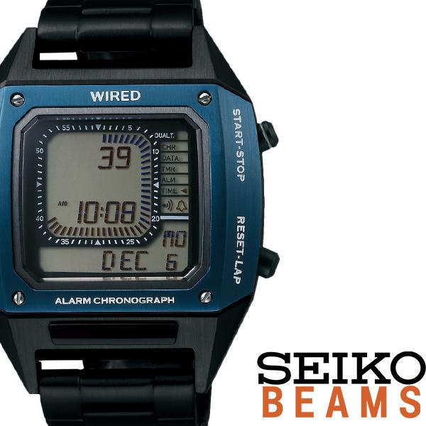 [当日出荷] セイコー 腕時計 ワイアード 時計 WIRED デジボーグ BEAMSプロデュース BASEL限定モデル メンズ グレー AGAM701 [ メタル クロノグラフ クロノ おしゃれ ワイヤード カジュアル CHGRWAT ] [ プレゼント ギフト 新生活 ]
