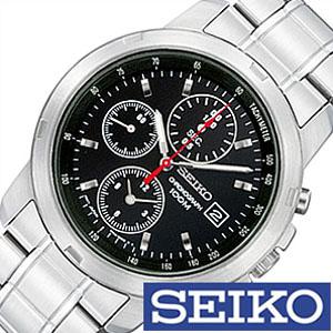 [当日出荷] 【延長保証対象】セイコー 腕時計 SEIKO 時計 クロノグラフ メンズ 海外モデル SNDB03P1 [ SNDB03PC ブラック 定番 生活 防水 ] [ プレゼント ギフト 新生活 ]