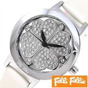 フォリフォリ 腕時計 folli follie 時計 ハートフォーハート レディース シルバー WF2T005SSZWHT[ プレゼント ギフト ホワイトデー ]