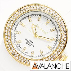 アバランチ腕時計 AVALANCHE時計 AVALANCHE 腕時計 アバランチ 時計 アヴァランチ ブリス BLISS メンズ レディース ホワイト AV-107S-WHGD-40 カラフル スポーツ カジュアル 生活 防水 プレゼント ギフト 祝い