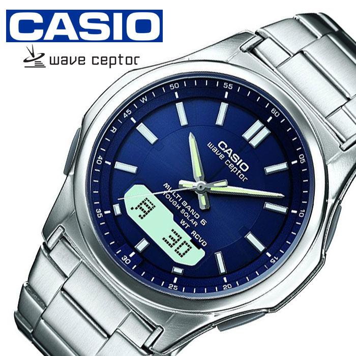 [当日出荷] 【延長保証対象】カシオウェーブセプター腕時計 CASIOWAVE CEPTOR時計 CASIO WAVE CEPTOR 腕時計 カシオ ウェーブセプター 時計 ソーラー電波腕時計 MULTIBAND6 メンズ ブルー WVA-M630D-2AJF [ プレゼント ギフト 新生活 ]