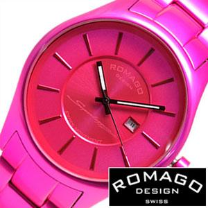 [当日出荷] ロマゴデザイン 腕時計 ROMAGO DESIGN 時計 ロマゴ スーパーレジェーラ [ Super leggera ] メンズ ピンク RM029-0290AL-PK 人気 新作 ブラック [ プレゼント ギフト 新生活 ]