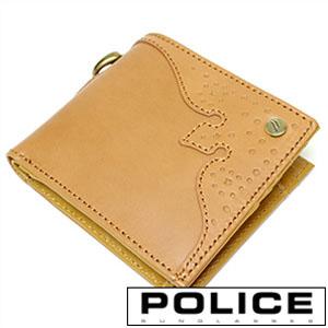 財布 ポリス 財布メンズ POLICE 二つ折り財布 POLICE 財布 ポリス 二つ折り財布 ウィングチップ WINGTIP メンズ財布 PA56801-25