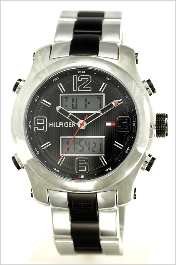 トミーヒルフィガー 腕時計 Tommy Hilfiger 時計 メンズ レディース ブラック 1790949
