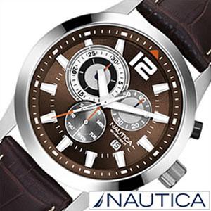 [当日出荷] 【延長保証対象】ノーティカ腕時計 NAUTICA時計 NAUTICA 腕時計 ノーティカ 時計 クラシック スポーティ ドレス NCS600 CLASSIC SPORTY DRESS メンズ ブラウン ホワイト A15548G アナログ おしゃれ アメリカン ブランド [ プレゼント ギフト 新生活 ]