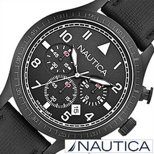 【延長保証対象】ノーティカ腕時計 NAUTICA時計 NAUTICA 腕時計 ノーティカ 時計 クロノ クラシック スポーティ カジュアル BFD105 CLASSIC SPORTY CASUAL メンズ ブラック A18685G アナログ おしゃれ 通販 アメリカン ブランド 送料無料[ プレゼント ギフト バレンタイン ]