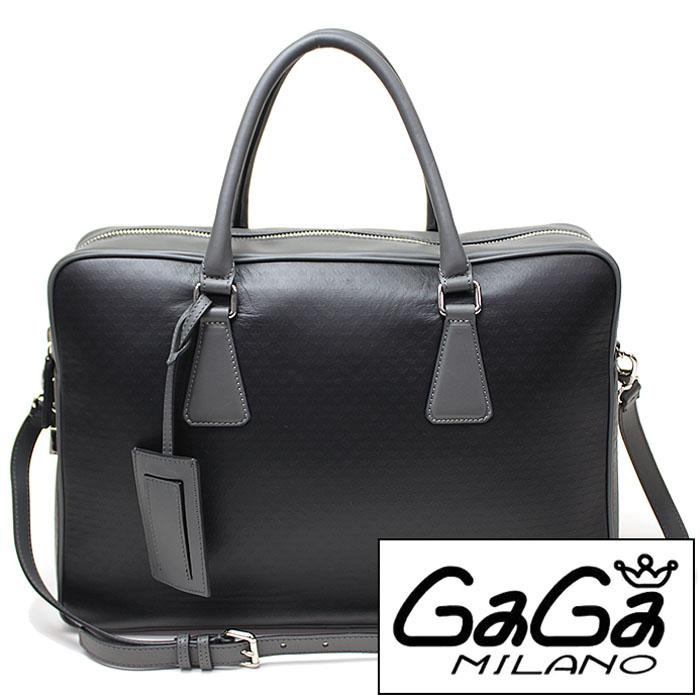 [当日出荷] ガガミラノ GAGA MILANO 鞄 GAGAMILANOショルダーバッグ GAGA MILANO 鞄 ガガ ミラノ ショルダーバッグ メンズ レディース 鞄 GAGA-BAG-027 B07BG 黒 灰色 ハンドバッグ デイリーバッグ ガガミラノ40mm [ プレゼント ギフト 新生活 ]
