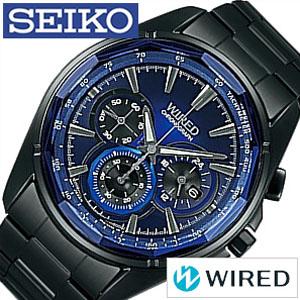 セイコー 腕時計 ワイアード 時計 WIRED SEIKO リフレクション REFLECTION メンズ ブルー ブラック AGAV102 [ メタル クロノグラフ クロノ おしゃれ ワイヤード カジュアル CHGRWAT ][ プレゼント ギフト 新春 2020 ]