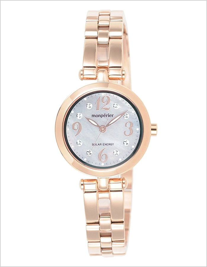 Ricoh watch [RICOH clock (RICOH watch Ricoh Watch) Montpellier Emmett (monperier emit) ladies watch / white shell /RICOH-699001-31 [solar charging system watch solar / battery-powered Pink White / Silver / Gold peach 3 needle]