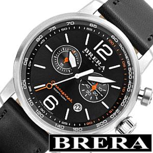 [当日出荷] ブレラ 時計 BRERA 腕時計 ブレラオロロジ BRERAOROLOGI ブレラ オロロジ BRERA OROLOGI ブレラ時計 ブレラオロロジ腕時計 ディナミコ DINAMICO メンズ ブラック オレンジ ホワイト BRDIC4401 革クロノグラフ 黒 [ プレゼント ギフト 新生活 ]