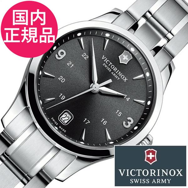 [当日出荷] ビクトリノックス 腕時計 VICTORINOX 時計 ヴィクトリノックス 時計 VICTORINOX SWISS ARMY ビクトリノックス スイスアーミー アライアンス ALLIANCE レディース ブラック 241540 レデュースウォッチ メタルベルト シルバー [ プレゼント ギフト 新生活 ]