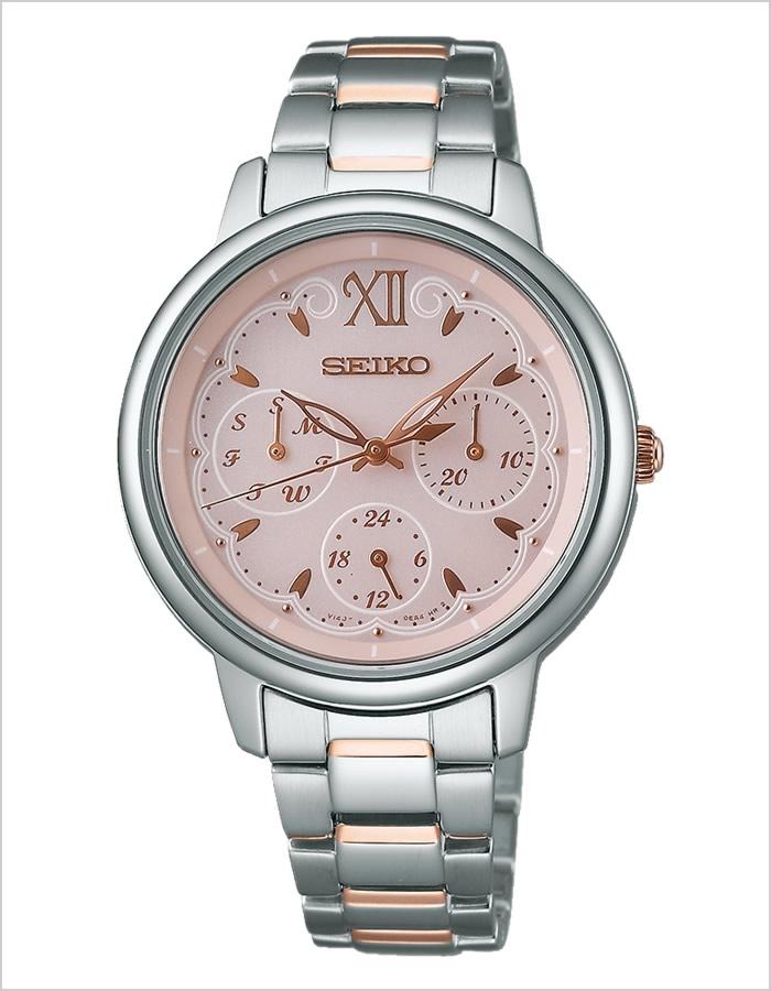 精工手表SEIKO钟表SEIKO手表精工钟表tise TISSE女士粉红SWFJ003[受欢迎的太阳能银子粉红黄金]