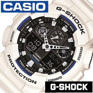 [当日出荷] 【延長保証対象】カシオ 腕時計 CASIO 時計 Gショック G-SHOCK ジーショック gshock時計 gshock腕時計 メンズ GA-100B-7AJF ブラック アナデジ デジタル 液晶 防水 ホワイト グレー [ プレゼント ギフト 新生活 ]