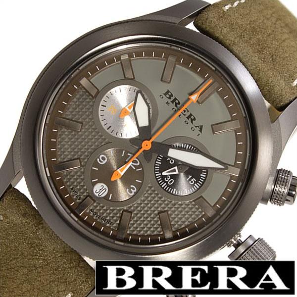 ブレラ 時計 BRERA 腕時計 ブレラオロロジ 腕時計 BRERAOROLOGI 時計 ブレラ オロロジ BRERA OROLOGI ブレラ時計 ブレラオロロジ腕時計 エテルノ クロノ Eterno Chrono メンズ BRET3C4304 革クロノグラフ ブランド ブラック グレー