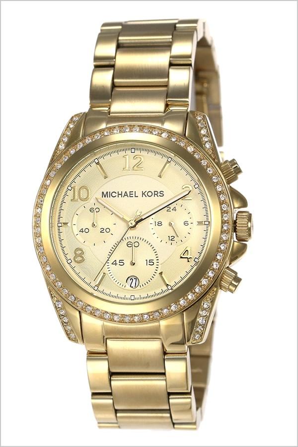 db5470c871b0 Michael Kors clock Lady s woman  MICHAEL KORS WATCH  watch Blair gold MK5166   metal belt chronograph fashion brand yellow gold crystal stone