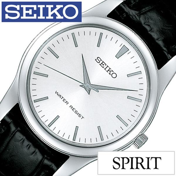 セイコー腕時計 SEIKO時計 SEIKO 腕時計 セイコー 時計 スピリット SPIRIT メンズ シルバー SCXP031 革 正規品 限定 防水 ブラック シンプル ペアモデル [ 彼氏 旦那 夫 息子 ] [ プレゼント ギフト 新生活 ]