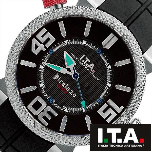 【5年保証対象】アイティーエー 腕時計 I.T.A. 腕時計 アイティーエー 時計 I.T.A. 時計 ITA ITA腕時計 ITA時計 ピラータ Pirata 2 メンズ ブラック 20.00.02 ラバー ベルト 正規品 イタリア ブランド ファッション ウォッチ 防水 ダイバー 送料無料