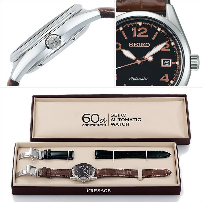 精工手表SEIKO钟表SEIKO手表精工钟表purezaju PRESAGE人黑色SARX031[1956个机械机械式自动卷手表60周年纪念限定型号的正规的物品防水]
