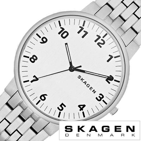 スカーゲン SKAGEN 腕時計 スカーゲン 時計 SKAGEN 時計 スカーゲン 腕時計 アンカー ANCHER メンズ レディース ホワイト SKW6200 人気 新作 ブランド 防水 ステンレス ベルト 北欧 シルバー ホワイト シンプル プレゼント ギフト