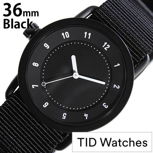 【5年保証対象】 ティッドウォッチズ ティッドウォッチ 腕時計 TIDWatches 時計 ティッド ウォッチ 時計 TID Watches 腕時計 TIDNo. 1 レディース ブラック TID01-BK36-NBK NATO ベルト おしゃれ インスタ モデル 通販 北欧 ペア ホワイト ナトー