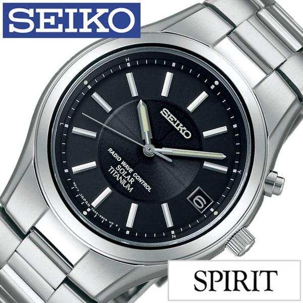 【延長保証対象】セイコー腕時計 SEIKO時計 SEIKO 腕時計 セイコー 時計 スピリット SPIRIT メンズ ブラック SBTM193 メタル ベルト 正規品 防水 ソーラー 電波 シルバー チタン モデル [ プレゼント ギフト 新生活 ]