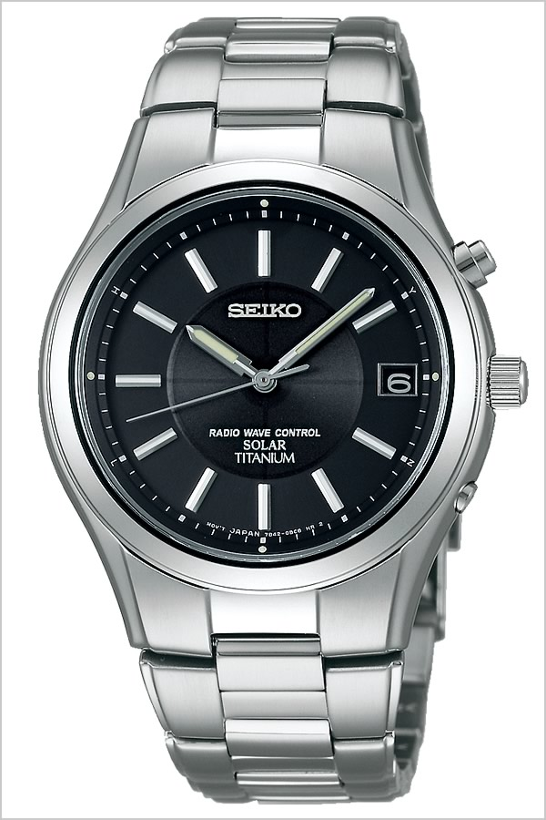 Seiko watch SEIKO watch SEIKO watch Seiko watch spirit SPIRIT men's / black SBTM193 [metal belt / genuine / water resistant / solar radio / silver / titanium model] [gifts]