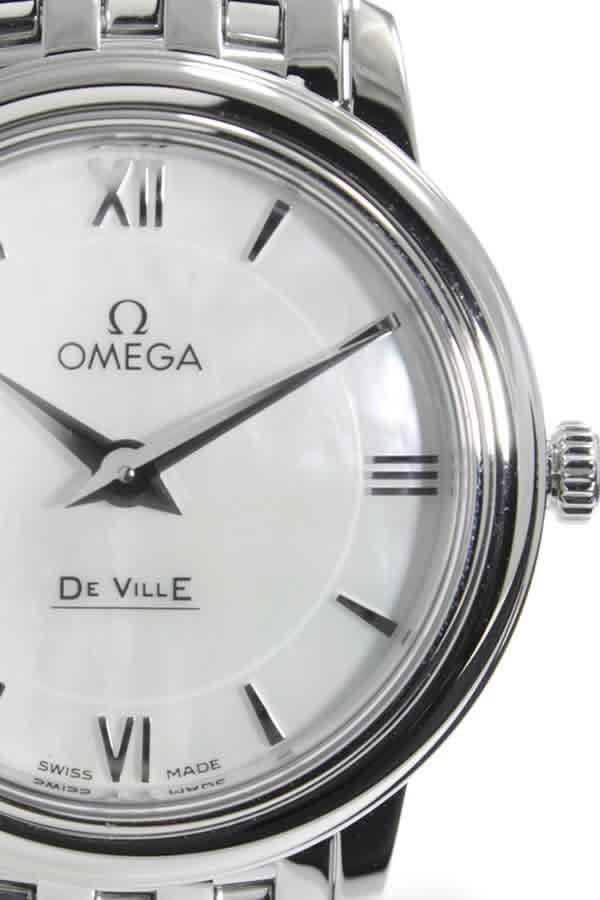 オメガ 腕時計 OMEGA 時計 オメガ時計 OMEGA腕時計 デビル プレステージ De Ville Prestige レディース ホワイト 424.10.27.60.05.001 メタル ベルト ブランド 新品 プレゼント ギフト スイス 白蝶貝 ホワイトシェル シルバー