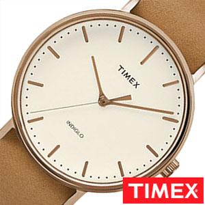 タイメックス 腕時計 TIMEX 時計 ウィークエンダー フェアフィールド メンズ ホワイト TW2P91200 [ NATO ベルト ナトー シンプル ブラウン ローズ ゴールド ][ プレゼント ギフト 新春 2020 ]