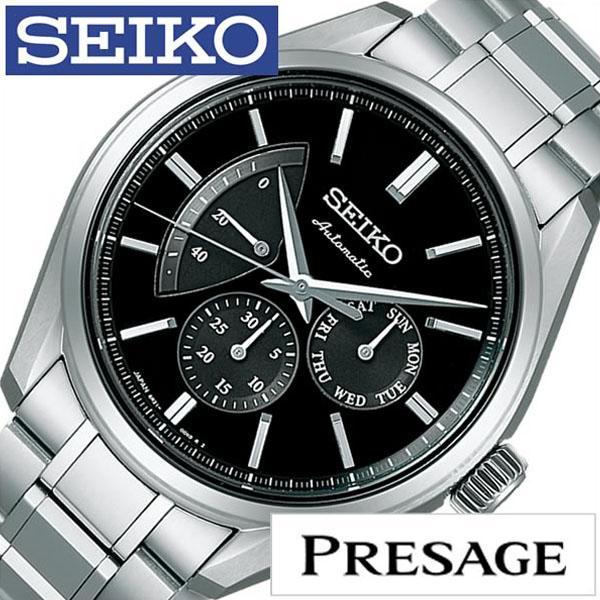 セイコー プレザージュ 腕時計 SEIKO PRESAGE 時計 プレサージュ 腕時計 メンズ レディース ブラック SARW023 [ セイコー腕時計 メカニカル 機械式 自動巻 腕時計 ビジネス カジュアル スーツ ドレス 男性 女性 アナログ ]