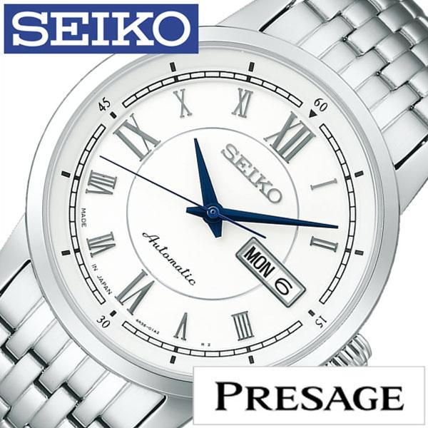 【延長保証対象】セイコー プレザージュ 腕時計 SEIKO PRESAGE 時計 プレサージュ 腕時計 メンズ ホワイト SARY025 [ セイコー腕時計 メカニカル 機械式 自動巻 腕時計 ビジネス カジュアル スーツ ドレス かっこいい おしゃれ 男性 女性 ベルト アナログ ] [ ]